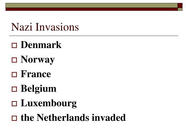 Nazi Invasions