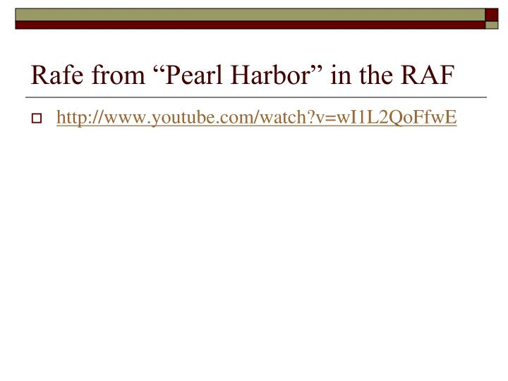"""Rafe from """"Pearl Harbor"""" in the RAF"""