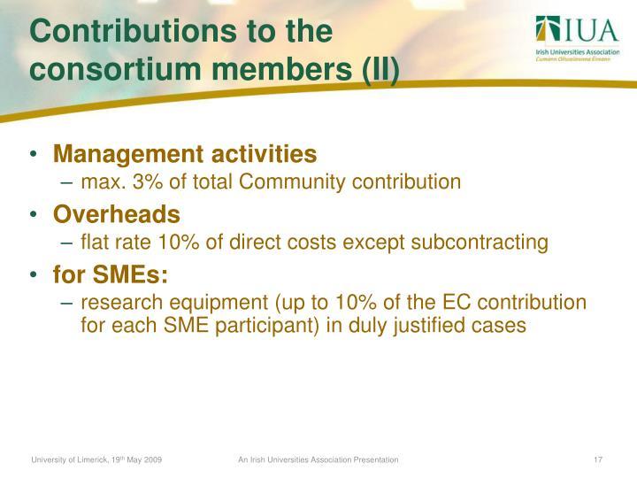 Management activities