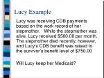 lucy example