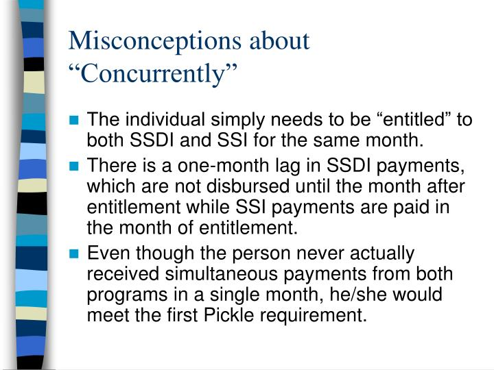 "Misconceptions about ""Concurrently"""