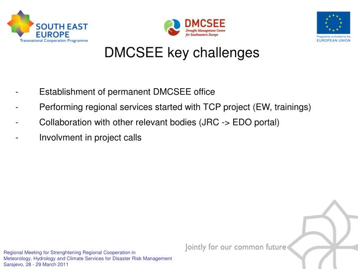 DMCSEE key challenges