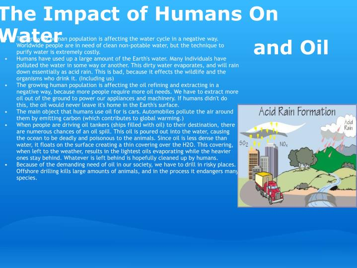 The Impact of Humans On Water