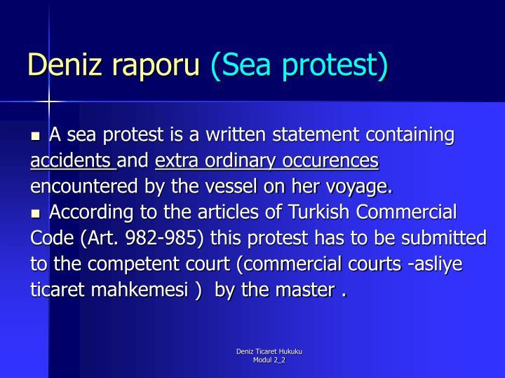 Deniz raporu