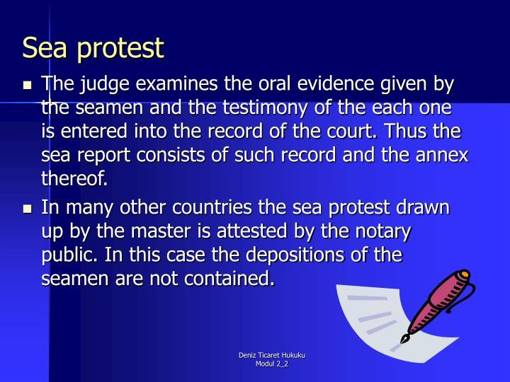 Sea protest