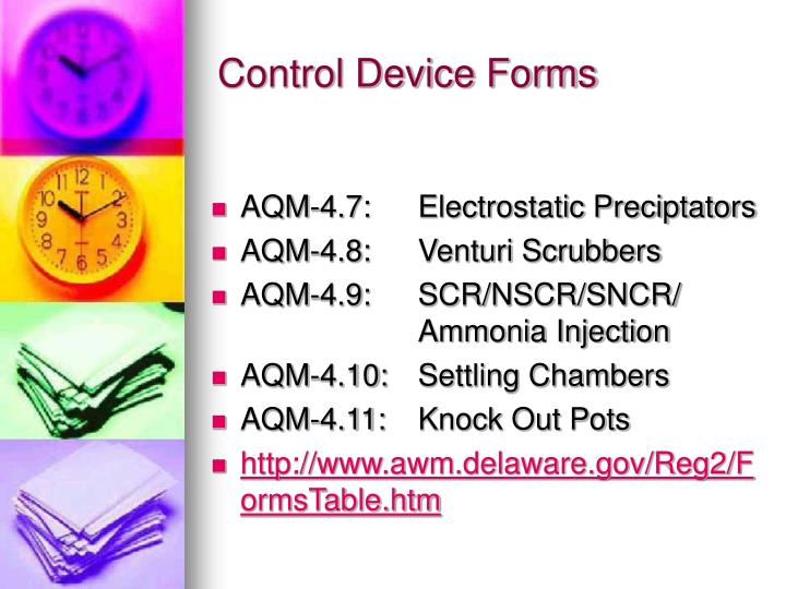 Control Device Forms