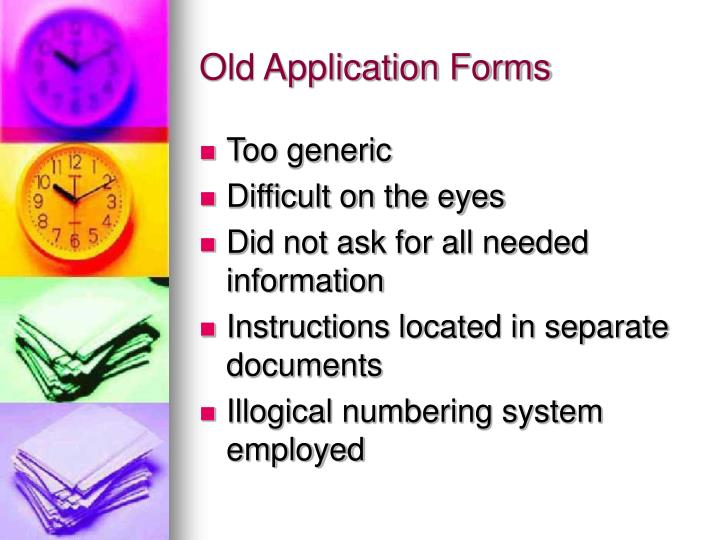 Old Application Forms