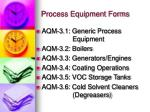 process equipment forms1