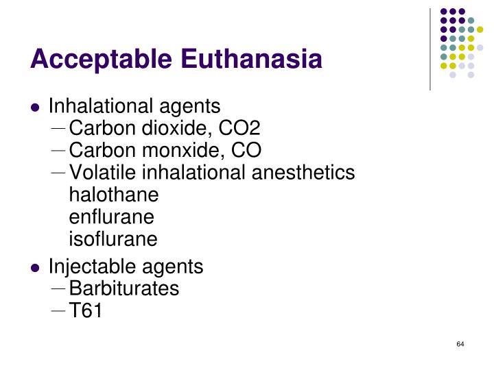 Acceptable Euthanasia