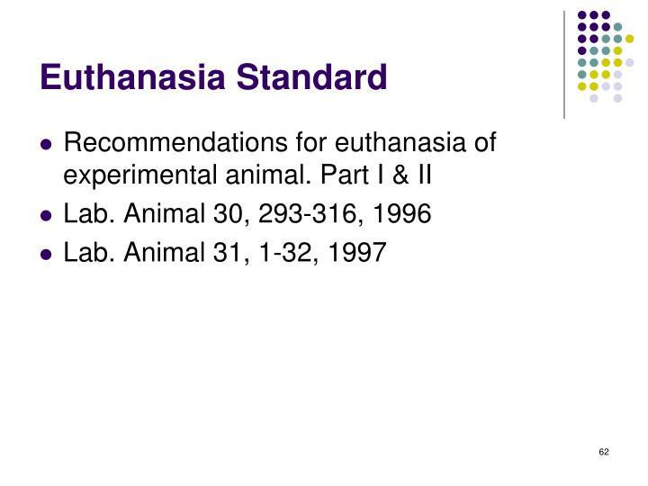 Euthanasia Standard