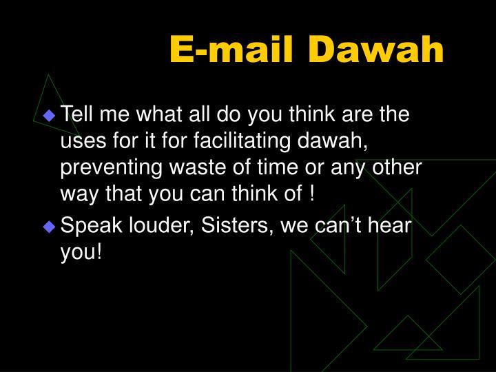 E-mail Dawah