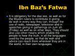 ibn baz s fatwa