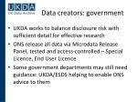 data creators government