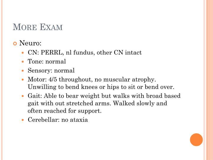 More Exam
