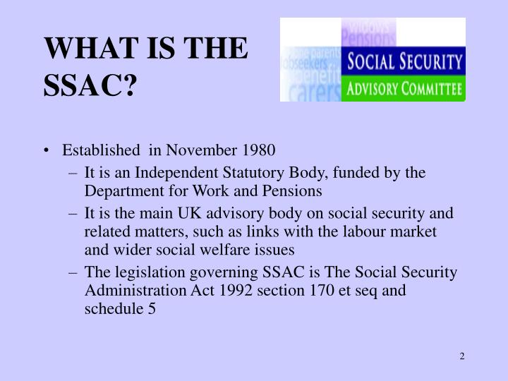 What is the ssac
