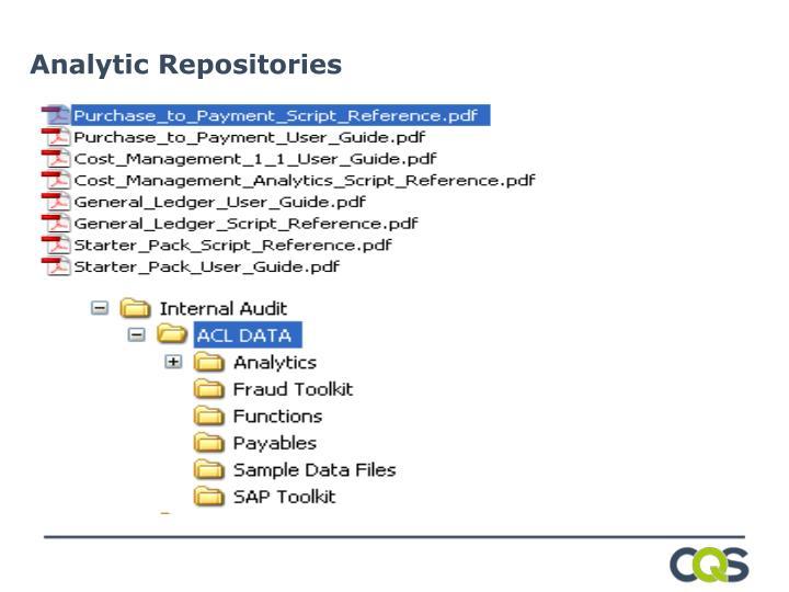 Analytic Repositories