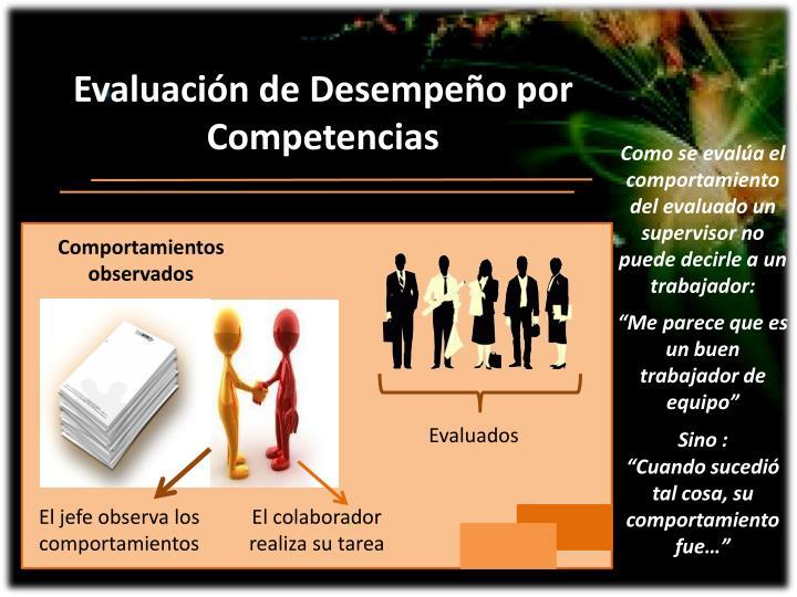 Evaluación de Desempeño por  Competencias