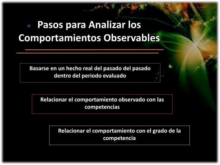 Pasos para Analizar los Comportamientos Observables