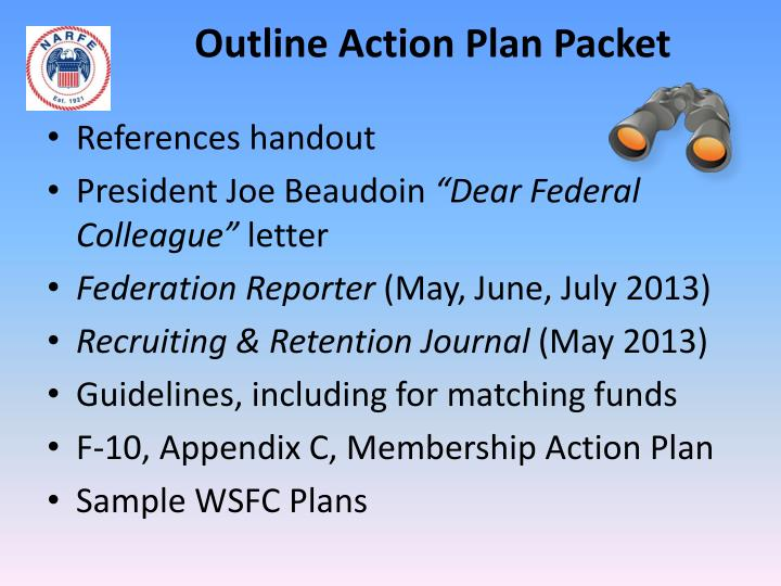 Outline Action Plan Packet