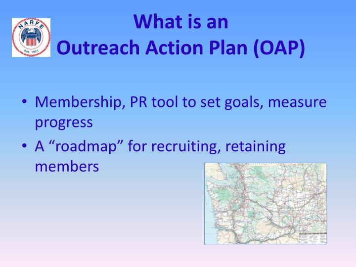 What is an outreach action plan oap