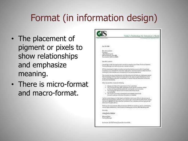 Format (in information design)