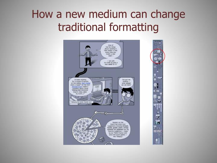 How a new medium can change traditional formatting
