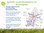 specific recommendations for birmingham