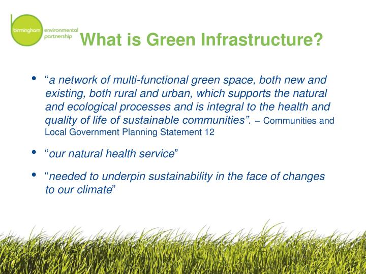 What is green infrastructure
