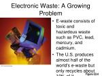 electronic waste a growing problem