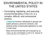 environmental policy in the united states