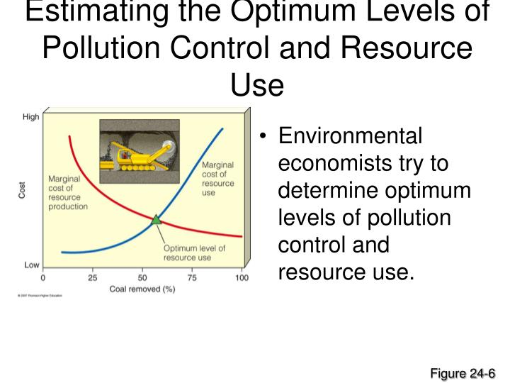 Estimating the Optimum Levels of Pollution Control and Resource Use