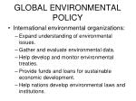 global environmental policy1