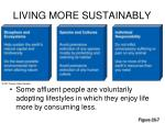 living more sustainably