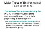 major types of environmental laws in the u s1