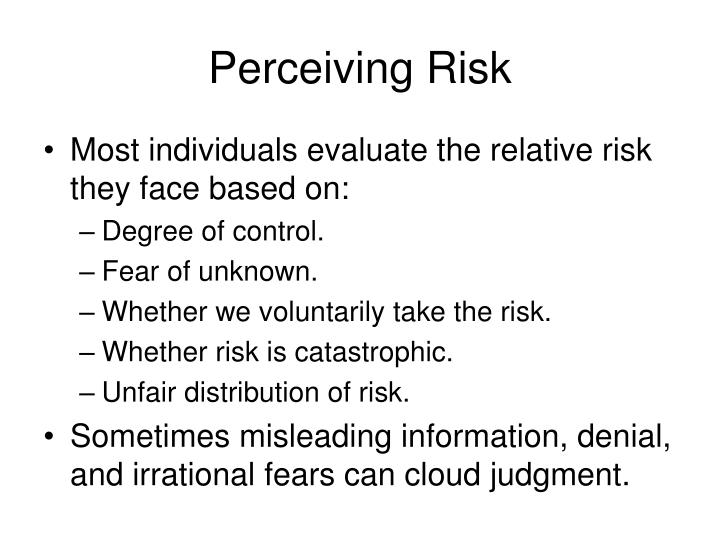 Perceiving Risk