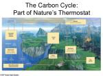 the carbon cycle part of nature s thermostat