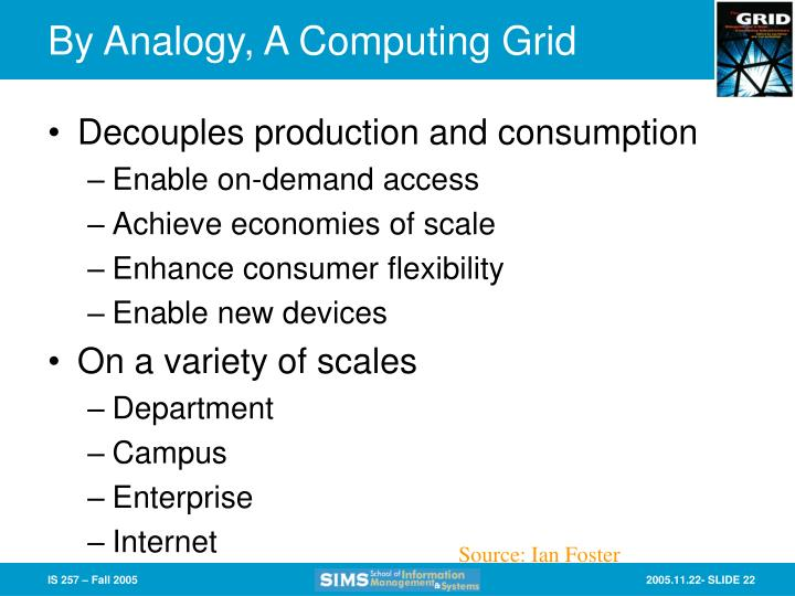 By Analogy, A Computing Grid