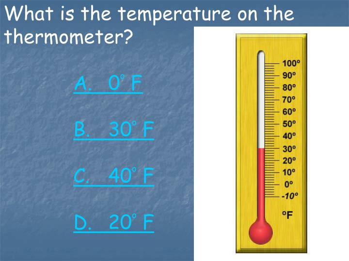 What is the temperature on the thermometer?