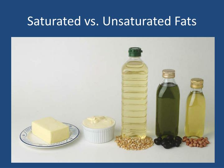 Saturated vs. Unsaturated Fats