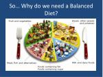 so why do we need a balanced diet