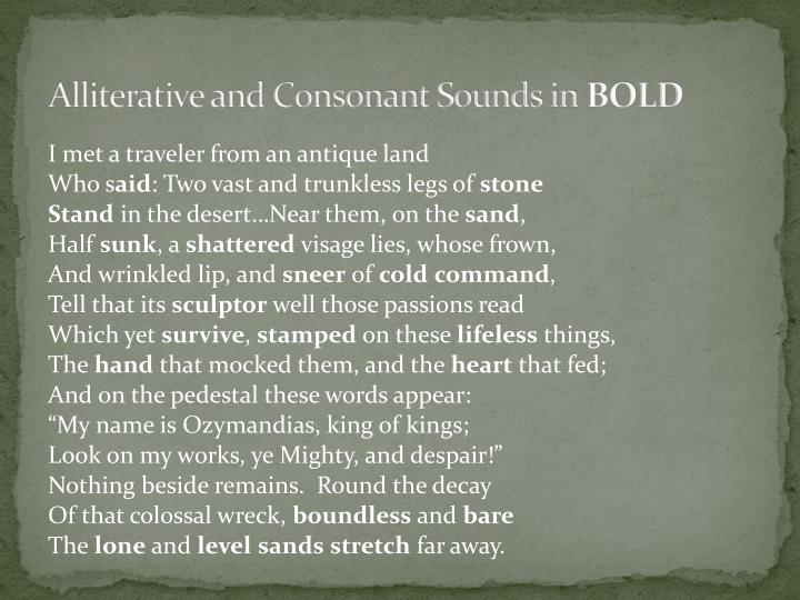 Alliterative and Consonant Sounds in