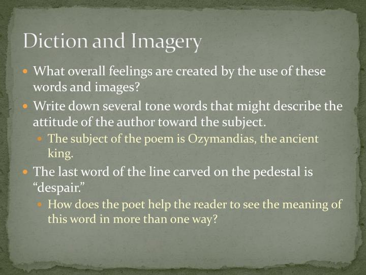 Diction and Imagery