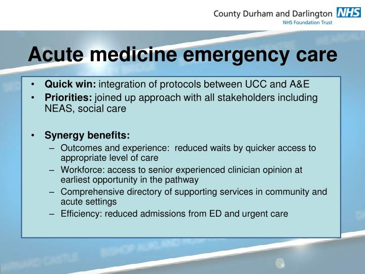 Acute medicine emergency care