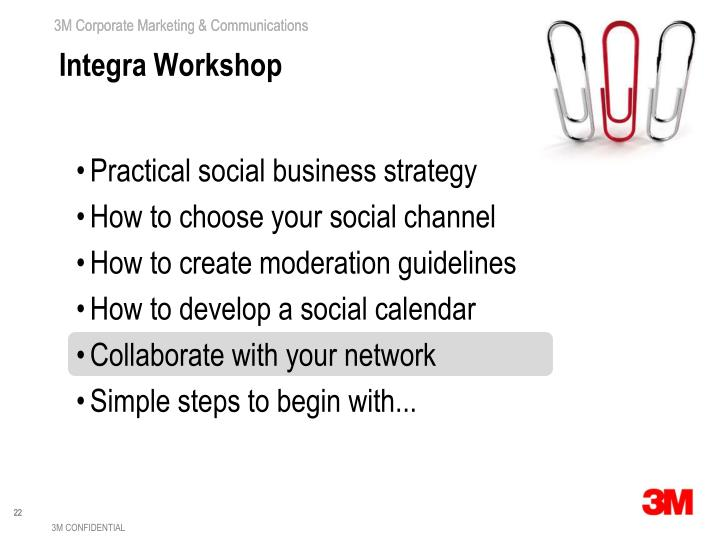 Integra Workshop