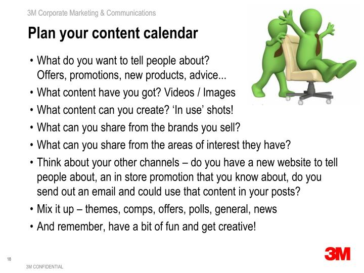 Plan your content calendar