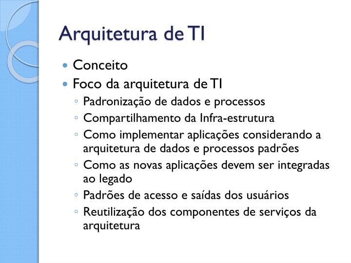 Arquitetura de TI