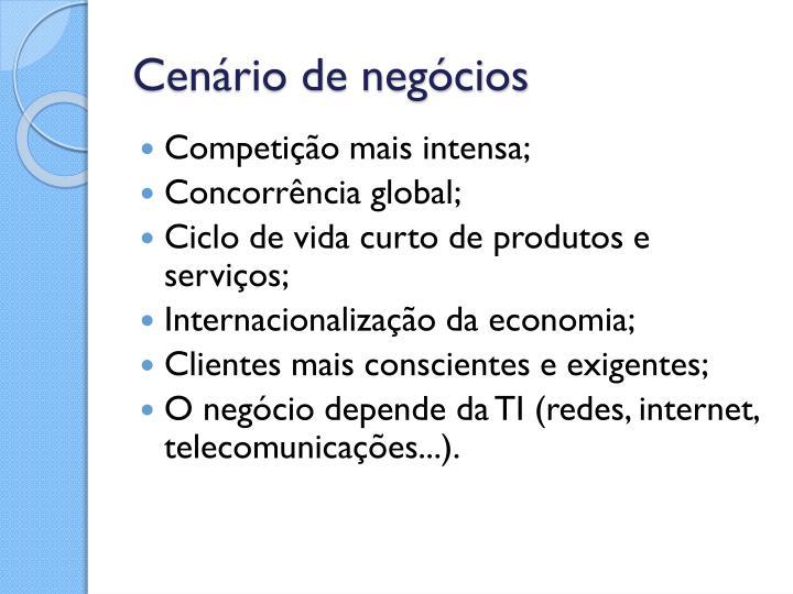 Cenário de negócios