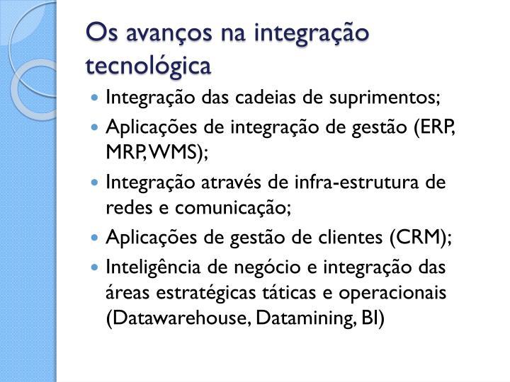 Os avanços na integração tecnológica