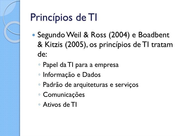 Princípios de TI