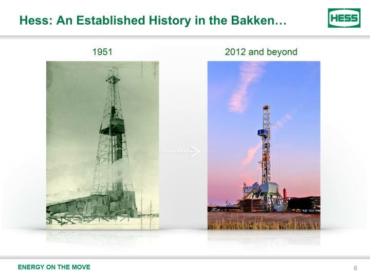 Hess: An Established History in the Bakken…